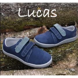 Beda Barefoot nízké W LUCAS 2021 - modrá/šedé pásky