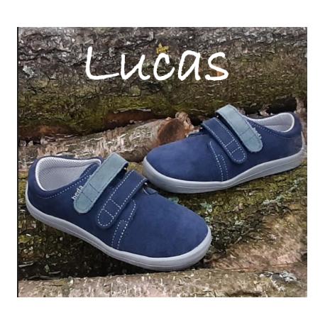 Beda Barefoot nízké W OCEAN LUCAS 2020 - modrá/šedé pásky