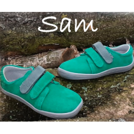 Beda Barefoot nízké W SAM 2020 - zelené/šedý pásek