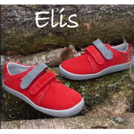 Beda Barefoot nízké W ELIS 2020 - červené/šedý pásek