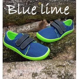 Beda Barefoot nízké W BLUE LIME - prodyšné