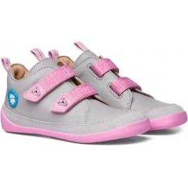 Affenzahn Leather sneaker Koala - Grey, Pink