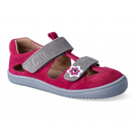 Filii Barefoot KAIMAN Velours Leather Pink Velcro M