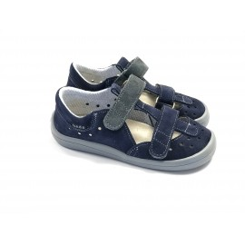Beda Barefoot sandály - LUCAS modro-šedé