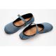 Ahinsa Shoes Ananda Bare - Balerínka Modrý nubuk