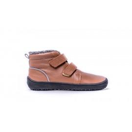 Dětské zimní barefoot boty Be Lenka Penguin - Chocolate