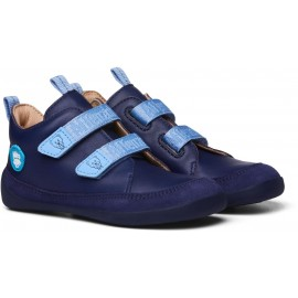 Affenzahn Leather sneaker Bear - Brown/Blue