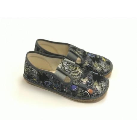 Beda Barefoot bačkory s gumičkou - šedé rádia