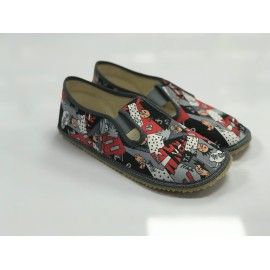 Beda Barefoot bačkory s gumičkou - komiks