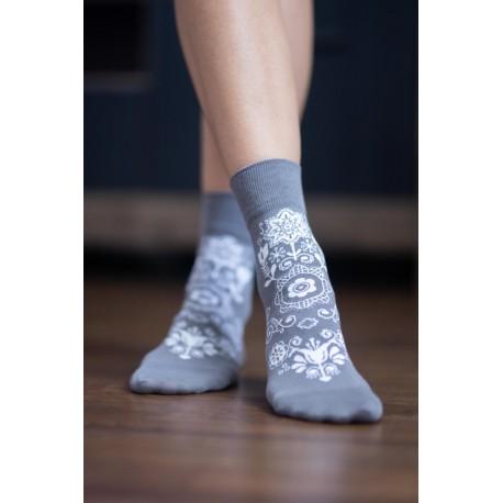 Be Lenka ponožky vysoké - Folk šedivé