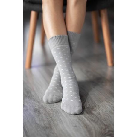 Be Lenka ponožky zimní - hvězdy šedivé