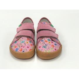 Froddo Barefoot nízké PLÁŤENÉ tenisky - Pink + (kytka)