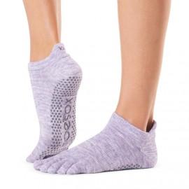 ToeSox Fulltoe Lowrise Grip (Heather Purple)