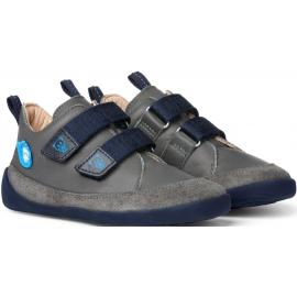 Affenzahn Leather sneaker Bear - Grey/Blue