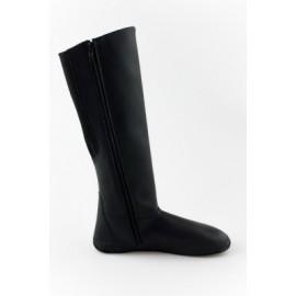 Ahinsa Shoes Sundara - kozačka černá bez řetízku