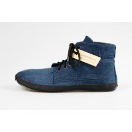 Ahinsa Shoes Sundara - Recyklovaná kotníčková džínová