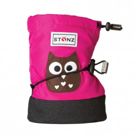 STONZ Booties Infant Owl Fuchsia