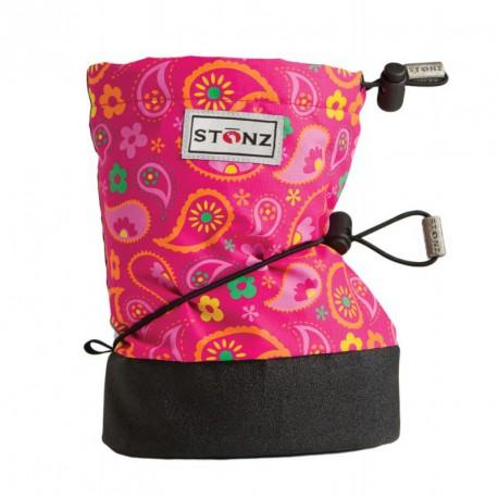 STONZ Booties Infant Paisley Pink - Fuchsia