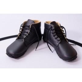 Ahinsa Shoes Sundara - kotníčková obuv černá