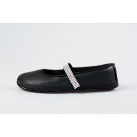 Ahinsa Shoes Sundara - balerínka s kamínky Swarovski
