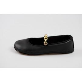 Ahinsa Shoes Sundara - balerínka se zlatým řetízkem