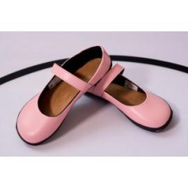 Ahinsa Shoes Sundara - balerínka růžová s černou podšívkou