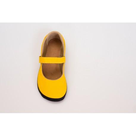 Ahinsa Shoes Sundara -balerínka žlutá - Sunbrella
