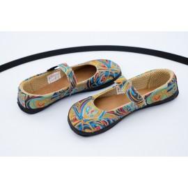 Ahinsa Shoes Sundara - balerínka duhová