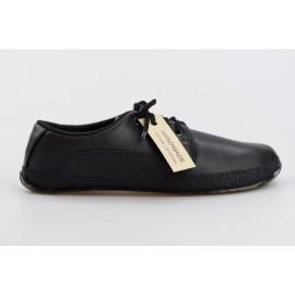 Ahinsa Shoes Sundara - Černá společenská s recyklovanou podrážkou