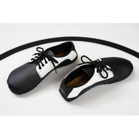 Ahinsa Shoes Sundara - Černobílá společenská