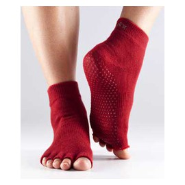 ToeSox Halftoe Ankle Grip (Red)