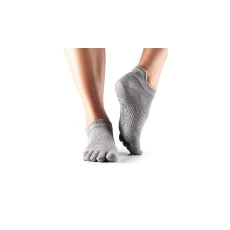 ToeSox Fulltoe Lowrise Grip (Heather grey)