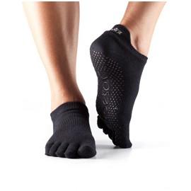 ToeSox Fulltoe Lowrise Grip (Black)