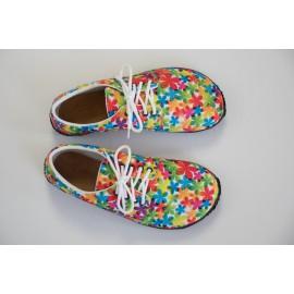Ahinsa Shoes Sundara - designová kytičkovaná