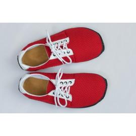 Ahinsa Shoes Sundara - Červená prodyšná