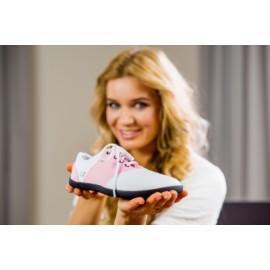 Ahinsa Shoes Sundara - Bílo růžová společenská