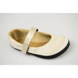 Ahinsa Shoes Sundara - Designová slonovinová lesklá balerínka