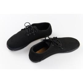 Ahinsa Shoes Sundara - Černá semišová ultraflex