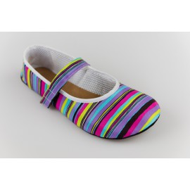 Ahinsa Shoes Ananda - Balerínka duhová proužky