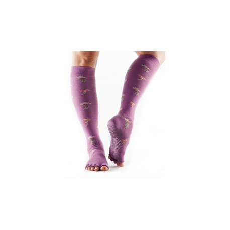 Toesox Halftoe Scrunch Knee High Grip (Ditzy) - BarefootMánie.cz 04be6768a2