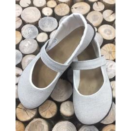 Ahinsa Shoes Sundara - balerínka lněná s bavlněnou podšívkou