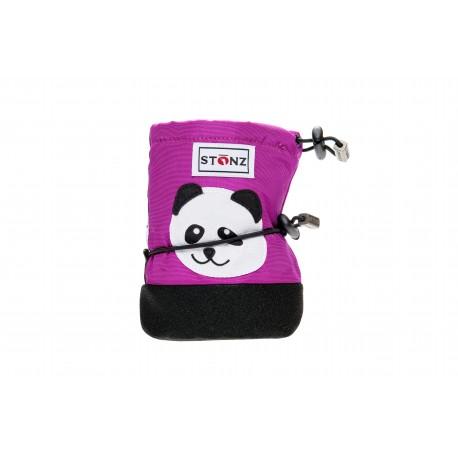 STONZ Booties Infant Panda Purple