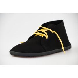Ahinsa Shoes Bindu - kotníčková černá