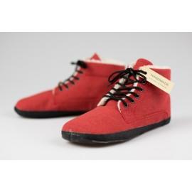 Ahinsa Shoes Sundara - kotníčková červená