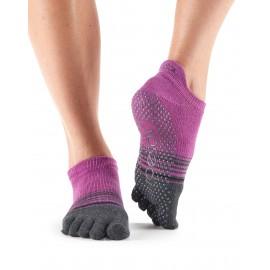 ToeSox Fulltoe Ankle Mulberry Stripe