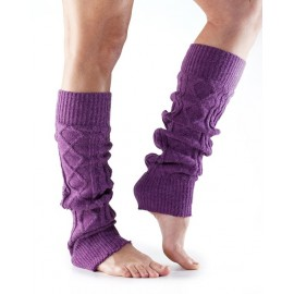 ToeSox Leg Warmers Knee High Plum