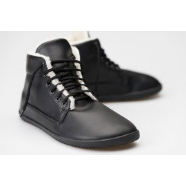 Ahinsa Shoes - Winter ANKLE černá