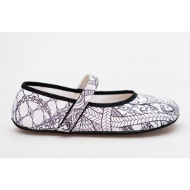 Ahinsa Shoes Ananda - Zentangle balerínka