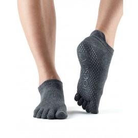 ToeSox Fulltoe Lowrise Grip (Charcoal)