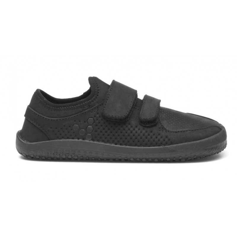 Vivobarefoot PRIMUS Strap K Leather Black - BarefootMánie.cz c1270263e4
